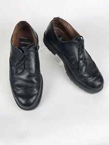 Aerosoles Black Leather Wing Tips