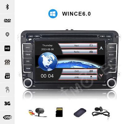 "7""Car DVD GPS Sat Nav for VW Golf MK5 6 EOS Skoda Caddy Seat Passat Canbus OBD"