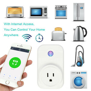 Details about Mini WiFi Smart Plug Switch Outlet Alexa Echo Google Home  Remote Control Socket