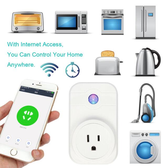 Mini WIFI Smart Plug Switch Outlet Alexa Echo Google Home Fernbedienung Steckdose
