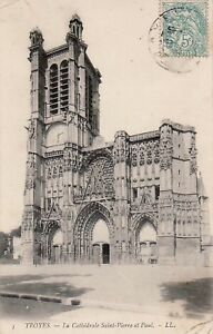 10-cpa-TROYES-La-cathedrale-St-Pierre