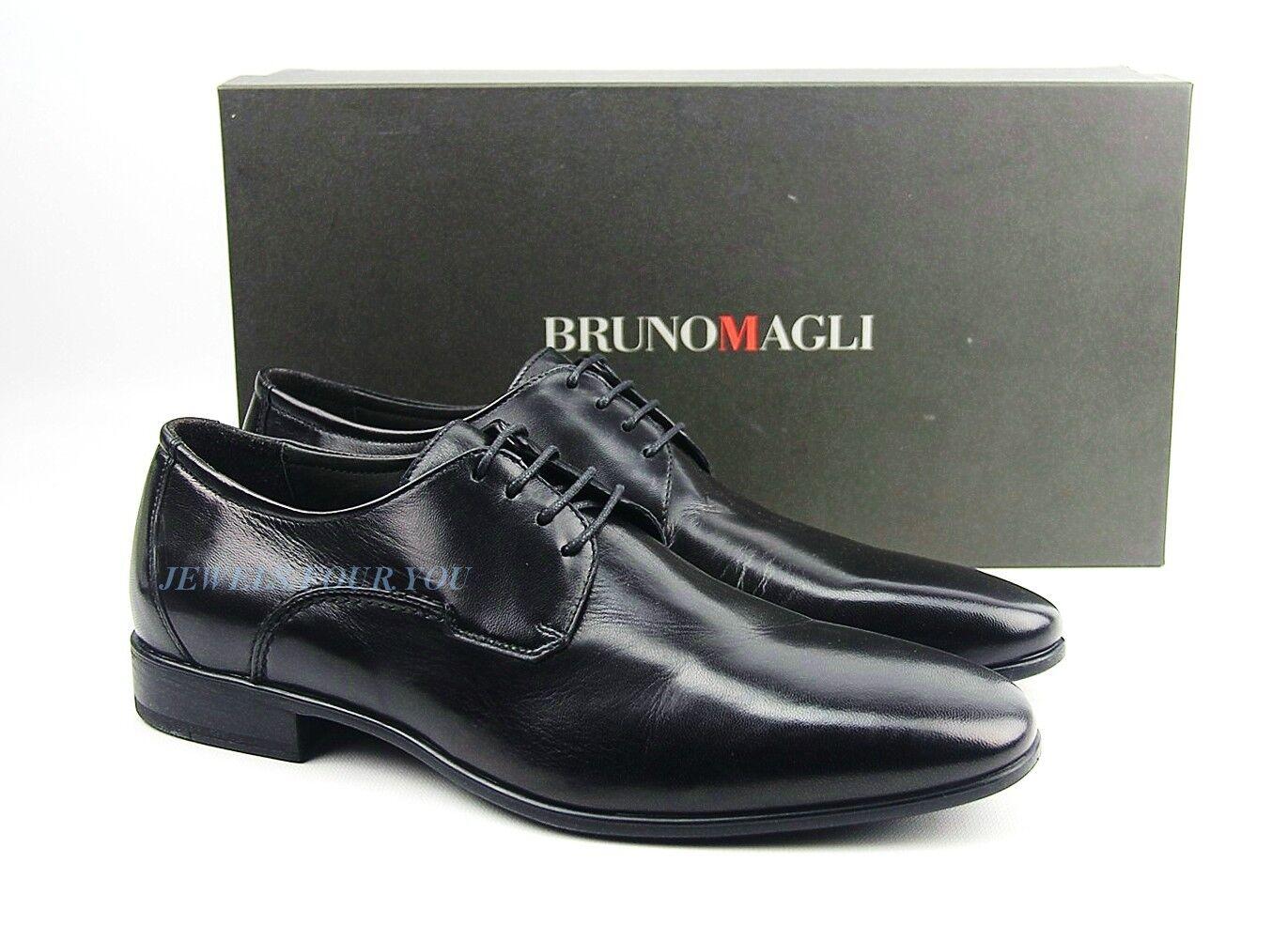vendita online sconto prezzo basso BRUNO MAGLI nero HANDMADE OXFORDS scarpe 100% LEATHER LEATHER LEATHER LACES ITALY NEW SZ 9   81  al prezzo più basso