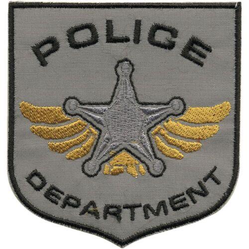 ☆ 04087 ☆ Patch Patch aplicación Stick emblema coser 7,5 x 8 cm Police dep