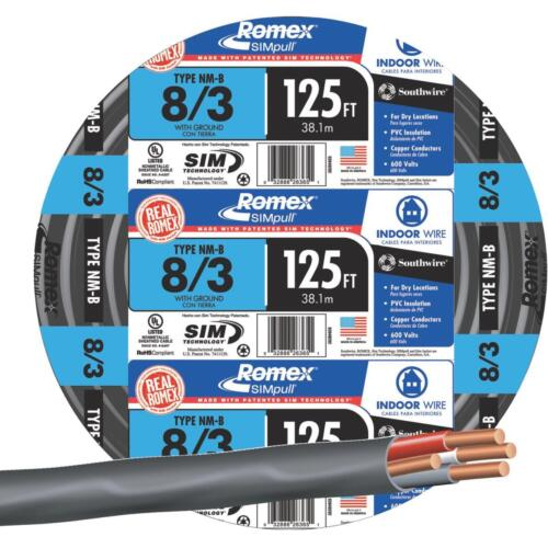 Southwire 125/' 8-3 Nmw//G Wire