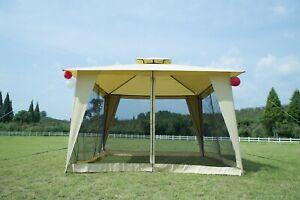 12x12-Patio-Metal-Gazebo-2-Tier-Yard-Garden-Canopy-Party-Tent-Outdoor-Netting