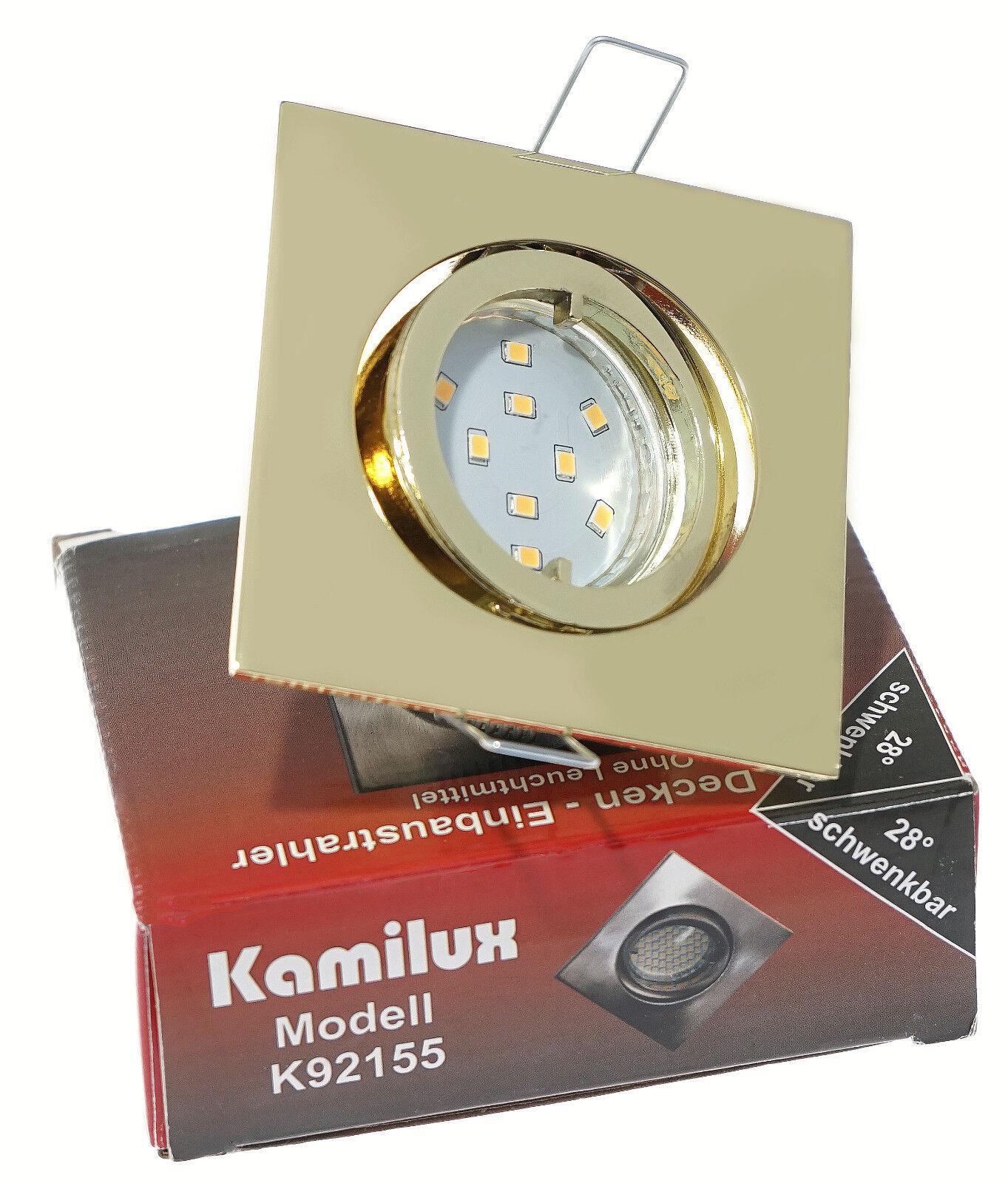 Rostfreie LED Downlight Sets Kamilux K92155 230V GU10 5W = 50W LED Leuchtmittel