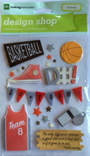 "Making Memories /""Basketball/"" 3-D Embellishments"