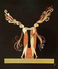 "ORIGINALE VINTAGE Erte Art Deco stampa ""KISS OF FIRE"" FASHION BOOK Piastra"