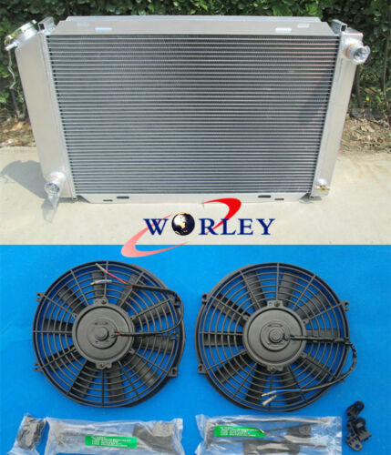 Aluminum radiator /& fans For FORD MUSTANG GT LX 5.0L V8 302 1979-1993 85 86 87