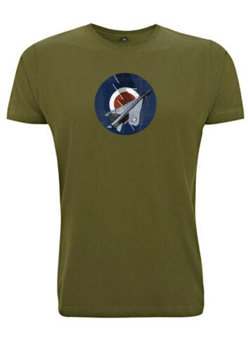 British English Electric Lightning jet t shirt target roundel war fighter plane