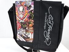 Ed Hardy by Christian Audigier Messenger Bag Backpack Laptop Black Skulls  NWOT 9e0dd36559526