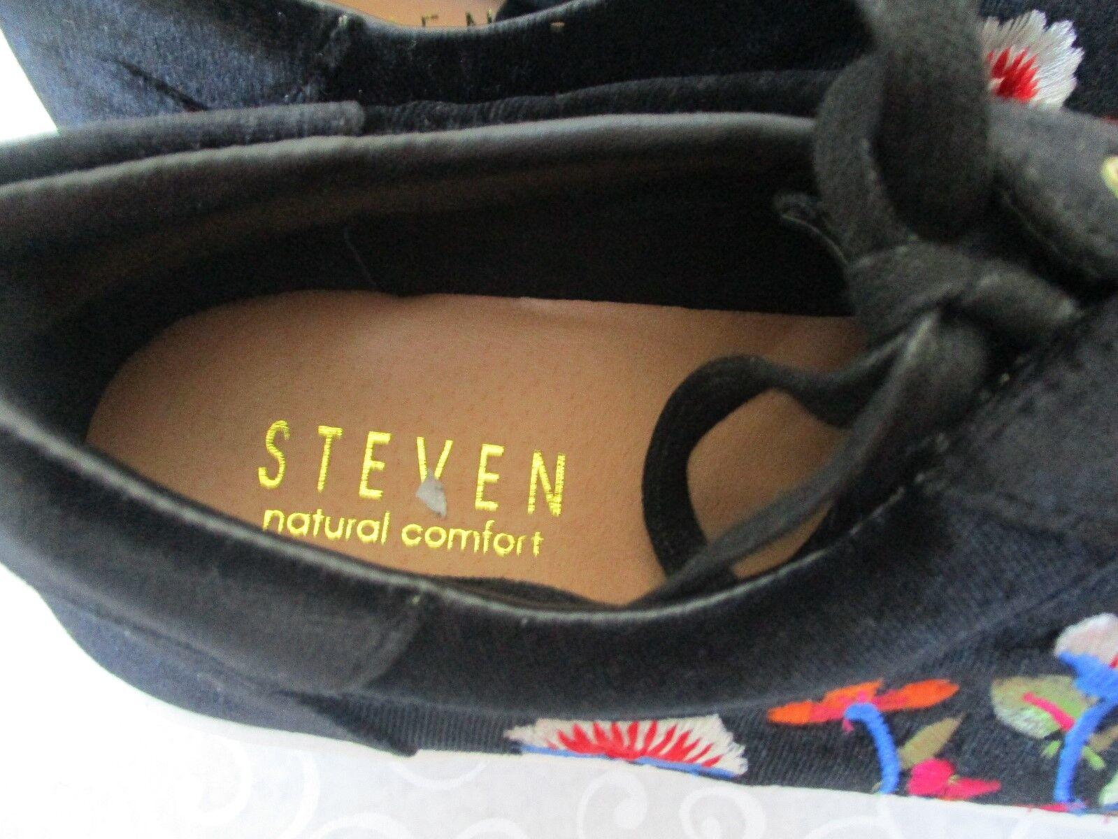 STEVNATURAL COMFORT NC NITRO BLACK EMBROIDEROT SNEAKERS Schuhe SIZE M 8 1/2 M SIZE cda7b9