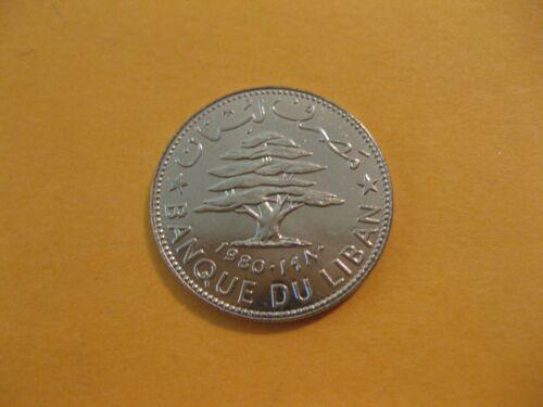 1980 Lebanon coin 50 Piastres   Cedar Tree     Uncirculated beauty  nice coin