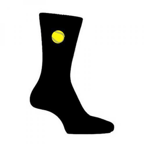Tennis Ball Style Black Novelty Socks Wimbledon Tennis Player Gift UK 5-12
