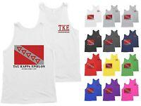 Tau Kappa Epsilon Fraternity Flag Bella + Canvas Tank Top Tke Shirt -