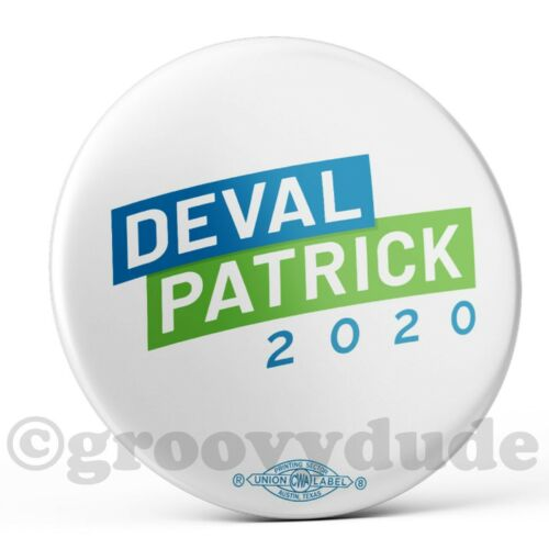 2020 Deval Patrick For President Official Logo Campaign Pin Pinback Button Badge
