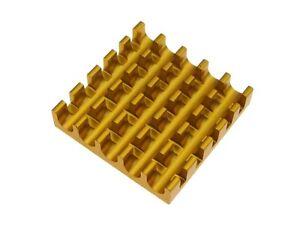 22*22*5mm Heat Sink Top Mount - Golden - Pack of 5