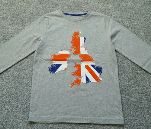 UK Size 7-8 years Brand new. Mini Boden Boys Applique long sleeve Top cotton