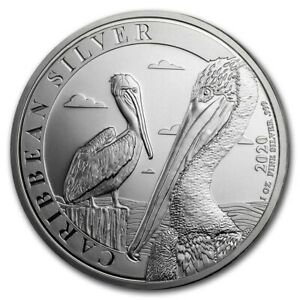 BARBADE-1-Dollar-Argent-1-Once-Pelican-2020
