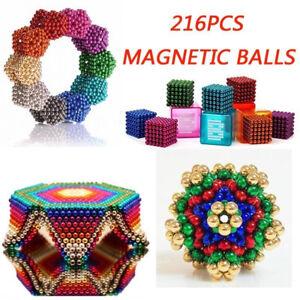 216 Stück Neodyme 5mm Magnete Kugeln Dekompression Spielzeug Stresskiller