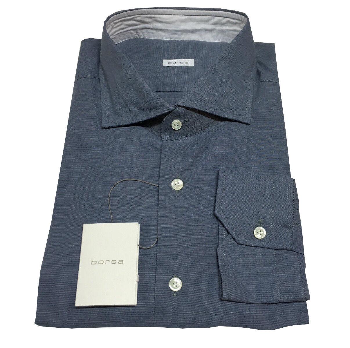 BORSA camicia uomo avio 100% cotone MADE IN ITALY vestibilita' slim