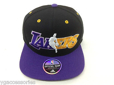 Sporting Goods Nba Los Angeles Lakers Adidas Structured Snap Back Cap Hat Style# Nj78z New Basketball