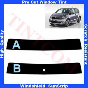 Pre-Cut-Window-Tint-Sunstrip-for-Skoda-Citigo-5Doors-Hatchback-2013-AnyShade