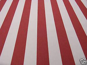 Favorit Markisenstoff rot-weiß gestreift 160cm breit Stoff für Markisen KM66