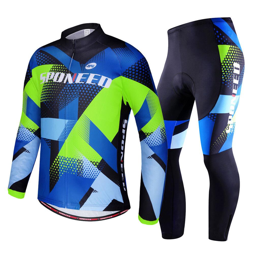 Reflective Men Cycle Bicycle Jersey  Sets Pro Bike Shirts 4D Silica Biking Pants  affordable