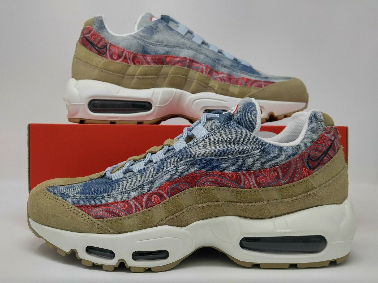 Nike Air Max 95 Wild West Parachute Beige University Red Run BV6059-200 NO LID
