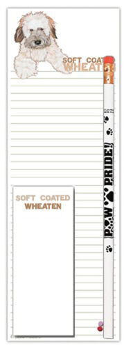 Soft Coated Wheaten Notepad /& Pencil Gift Set