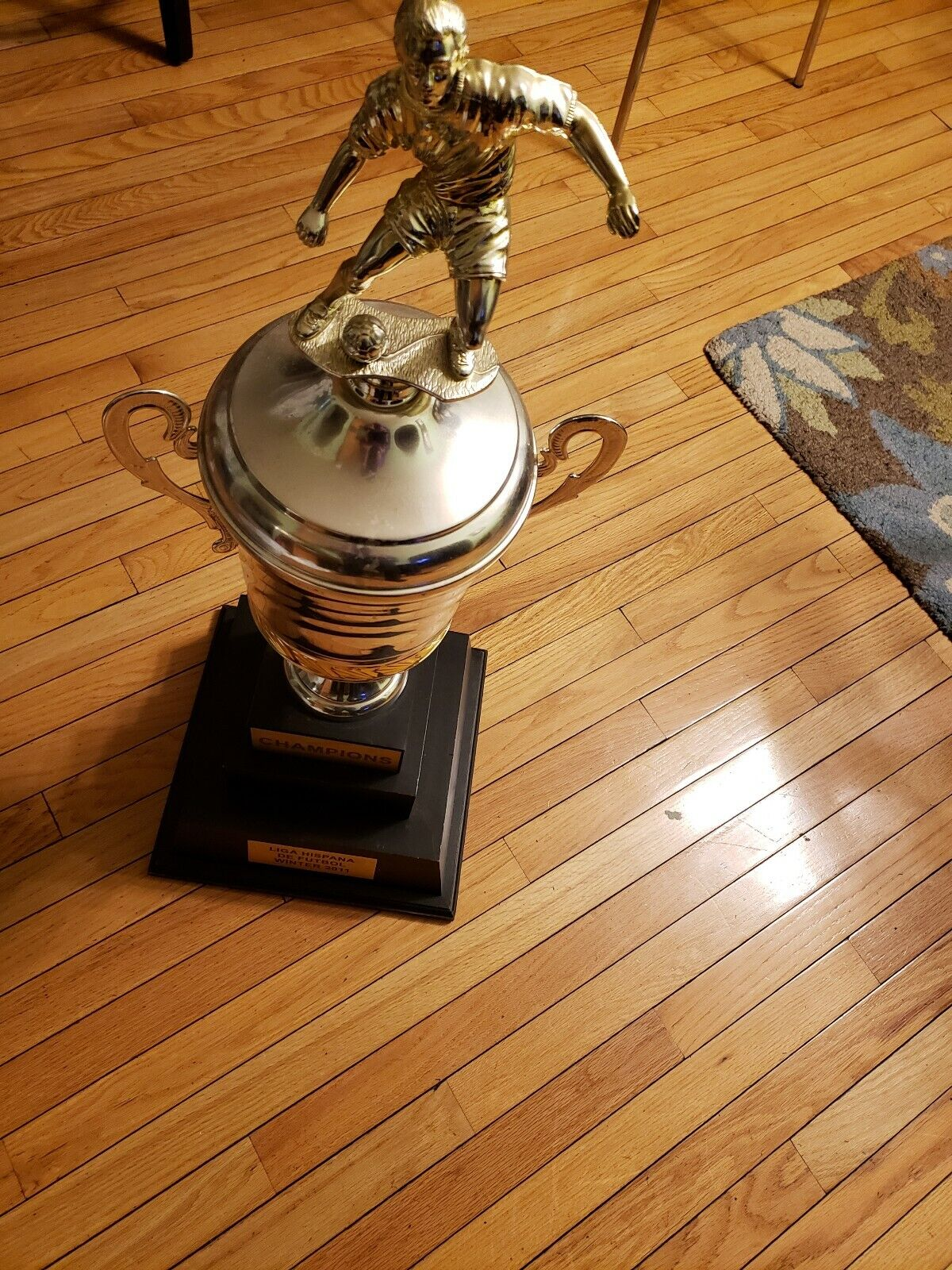 Championship Soccer trophy. Height 35in