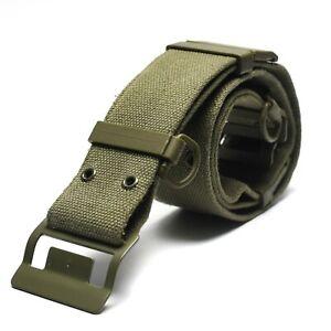 Original-French-army-webbing-belt-Famas-Olive-OD-web-belt-France-Military-NEW