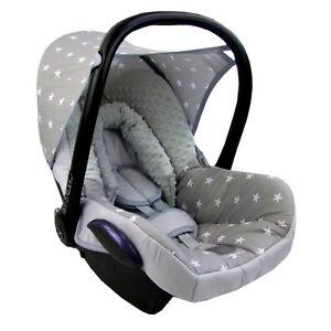 bambiniwelt ersatzbezug baby maxi cosi cabriofix minky grau weiss kl sterne mb5 ebay. Black Bedroom Furniture Sets. Home Design Ideas