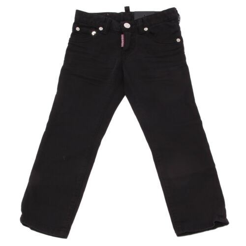 8066T jeans bimbo DSQUARED2 CLEMENT JEAN nero denim trouser jean kid