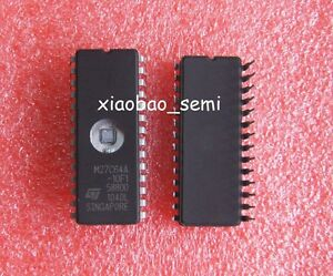 2 PCS M27C64A-10F1 M27C64A IC EPROM UV 64KBIT 100NS 28CDIP NEW