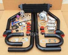 DIY 2.5' Turbo Kit,8x Black pipe+coupler+Clamps+Oil Line+Boost Controller Gauge