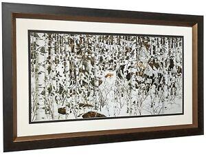 WOODLAND-ENCOUNTER-Art-Print-by-Bev-Doolittle-Solid-Wood-Frame-Professional-Mats
