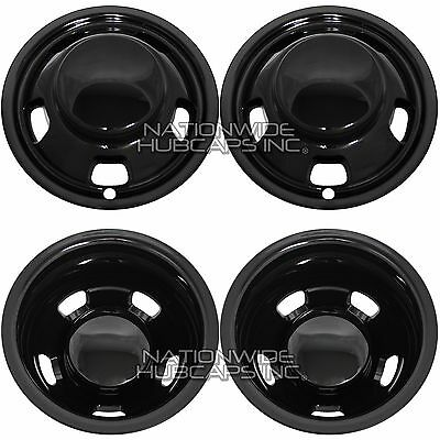 DODGE RAM 3500 17 INCH STAINLESS STEEL HUBCAPS SIMULATORS 2003-2019 BOLT ON
