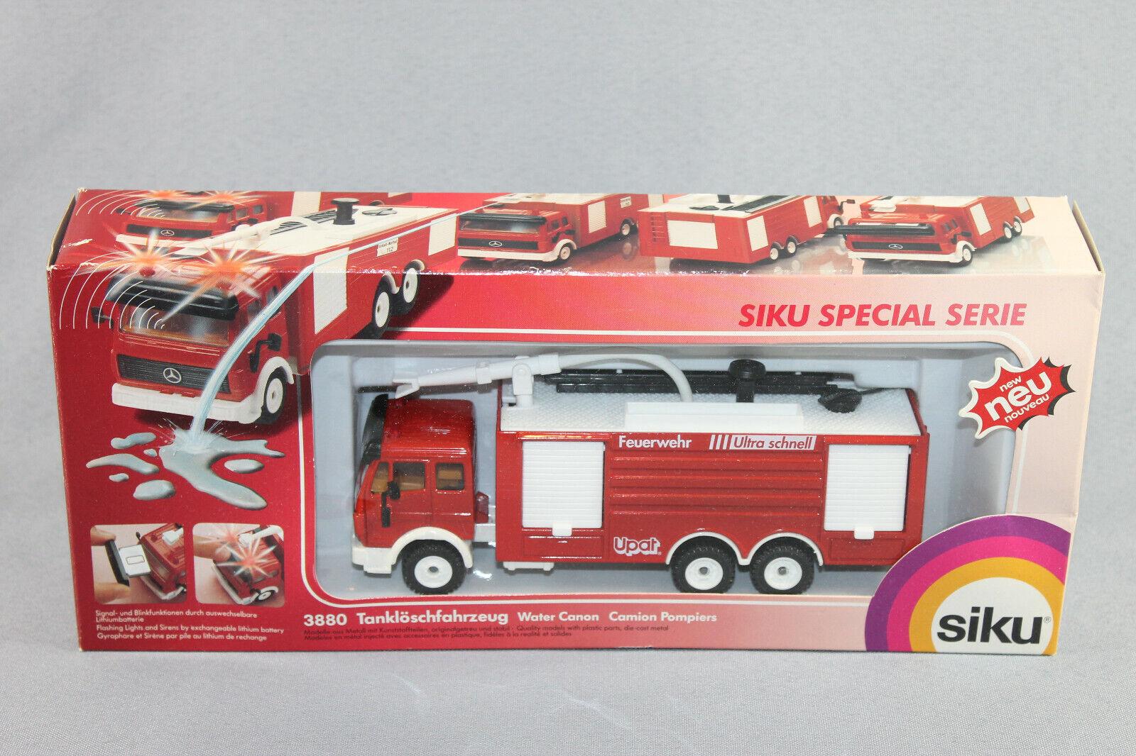 SIKU 3880 pompiers Tanklöschfahrzeug UPAT publicitaires Modèle SUPER-série dans neuf dans sa boîte