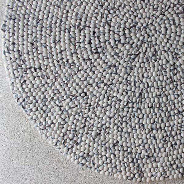 Elija Hecho a Mano Tamaño 90-200 cm ronda pelota de fieltro de lana diseño de guijarros Alfombra Alfombra