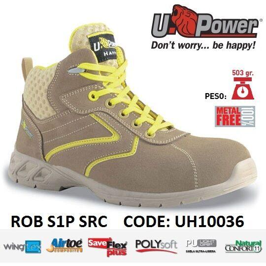 UPOWER Scarpa SRC lavoro Antinfortunistica ROB S1P SRC Scarpa U-POWER UH10036 f6877a