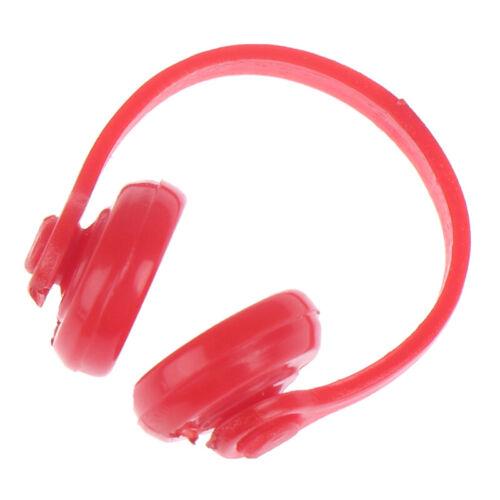 2Pcs 1:12 Dollhouse Miniature Plastic Wireless Headphone Doll House Decor YC