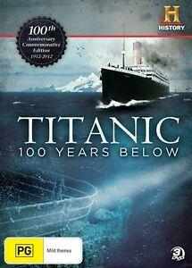 Titanic-100-Years-Below-DVD-2012-3-Disc-Set-New-Sealed-Region-4
