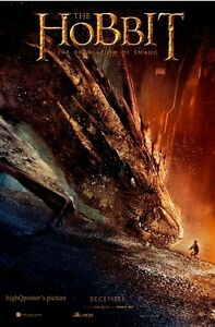 The Hobbit Desolation of Smaug 27x40 BANNER vinyl 1sheet ...