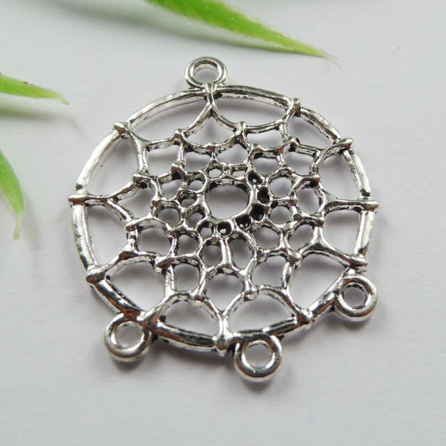Free Ship 40pcs tibetan silver Dreamcatcher connector 34x28mm