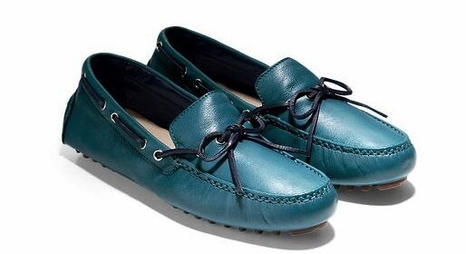 Cole Haan Garnet Teal Pelle Loafers Shoes Moccasins 5 Donna