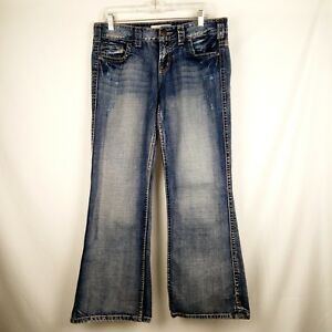 Maurices-Jenna-Boot-Jeans-Women-Size-9-10-Short-Blue-100-Cotton
