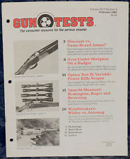 Magazine GUN TESTS February 1991 !!! RUGER Model 77 RIFLE !!! *FREE SHIPPING*