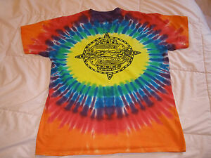 "NEW, TYE DYE - NATIVE AMERICAN - ""FESTIVAL OF THE RIVER"" T-SHIRT, SHORT SLEEVES"
